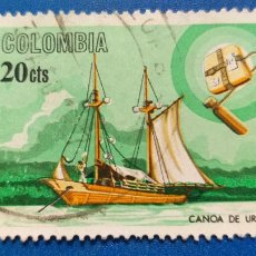 Sellos: USADO. COLOMBIA. YVERT 617. BARCO.. Lote 236379765
