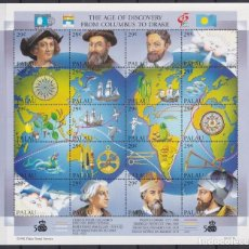 Sellos: F-EX20043 PALAU MNH 1992 OLD SHIP MAGALLANES COLUMBUS COLON MAP OF DISCOVERY.. Lote 253901070