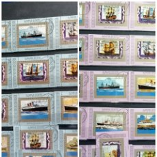 Timbres: BARCOS LOTE SELLOS MINI HBS AÑOS 70S EMIRATOS ARABES. Lote 240030370