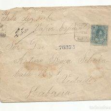 Sellos: CIRCULADA 1918 POR VAPOR ESPAÑOL DE BARCELONA A LA HABANA CUBA. Lote 242265275