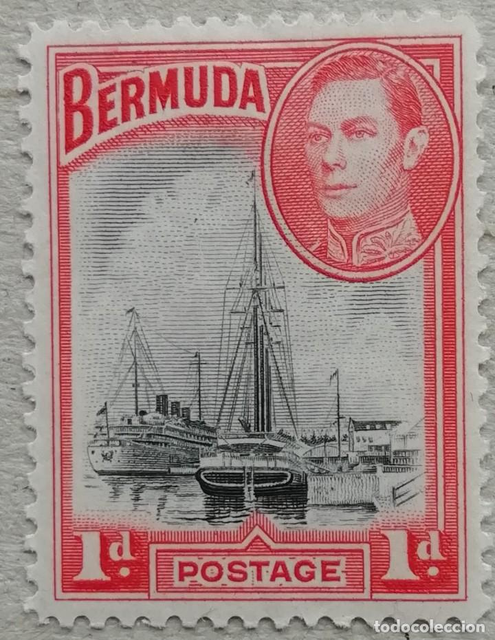 1934. BERMUDAS. 104. PUERTO HAMILTON. USADO. (Sellos - Temáticas - Barcos)