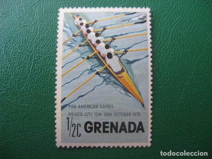 *GRENADA, 1975, JUEGOS PANAMERICAOS, REMO. (Sellos - Temáticas - Barcos)