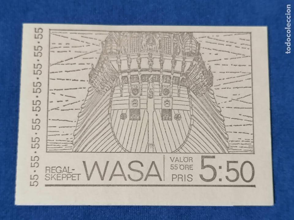 Sellos: Barcos Galeon De Guerra Suecia Carnet Yvert 625/0 año 1969 sellos nuevos perfectos *** - Foto 3 - 244444555