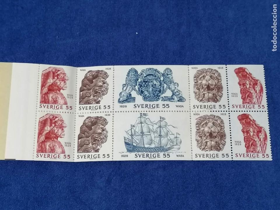 BARCOS GALEON DE GUERRA SUECIA CARNET YVERT 625/0 AÑO 1969 SELLOS NUEVOS PERFECTOS *** (Sellos - Temáticas - Barcos)