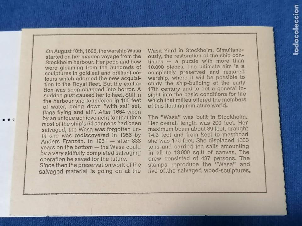 Sellos: Barcos Galeon De Guerra Suecia Carnet Yvert 625/0 año 1969 sellos nuevos perfectos *** - Foto 2 - 244444555