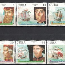 """Sellos: 🚩 CUBA 1992 INTERNATIONAL THEMATIC STAMP EXHIBITION """"GENOVA '92"""" - EXPLORERS AND THEIR SHIPS. Lote 244740095"""