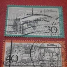 Sellos: SELLO ALEMANIA R. FEDERAL MTDOS/1972/CUIDAD/PUERTO/BARCO/FARO/ALDEA/PUENTE/FORTALEZA/HISTORIA/ARQUI. Lote 245008055