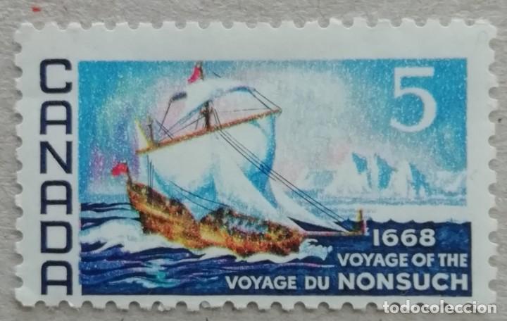 1968. CANADÁ. 403. TRICENTENARIO DEL VIAJE DEL BARCO 'NONSUCH' (1668). SERIE COMPLETA. USADO. (Sellos - Temáticas - Barcos)