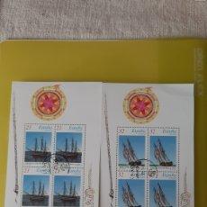 Sellos: EDIFIL 3477 / 8 USADO HOJAS BLOQUE BARCOS ÉPOCA ESPAÑA 1997 FILATELIA COLISEVM NUMISMÁTICA. Lote 246116520