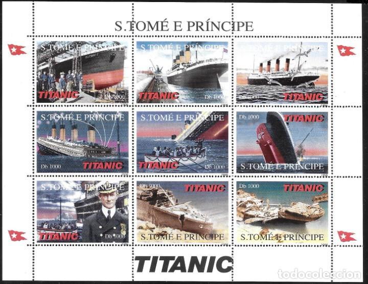 SANTO TOME Y PUERTO PRINCE - TITANIC (Sellos - Temáticas - Barcos)