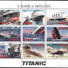 Sellos: SANTO TOME Y PUERTO PRINCE - TITANIC. Lote 247576680