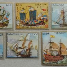 Timbres: 1972. PARAGUAY. 1211 / 1217. FAMOSOS BARCOS ANTIGUOS. SERIE COMPLETA. NUEVO.. Lote 248991380
