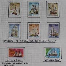 Sellos: LOTE 8 SELLOS BARCOS DE VELA, GUINEA BISSAU AÑO 1985, SANTA LUCÍA AÑO 1976, Y CABO VERDE AÑO 1982. Lote 253548310