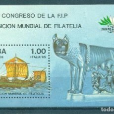 Sellos: ⚡ DISCOUNT CUBA 1985 THE ITALIA 85 INTERNATIONAL STAMP EXHIBITION, ROME MNH - SHIPS, STATUES. Lote 253838480