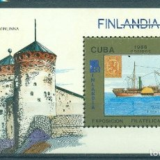 "Sellos: ⚡ DISCOUNT CUBA 1988 INTERNATIONAL STAMP EXHIBITION ""FINLANDIA '88"" - HELSINKI, FINLAND MNH. Lote 253838875"
