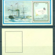 "Sellos: ⚡ DISCOUNT CUBA 1990 STAMP WORLD ""LONDON '90"" THE INTERNATIONAL STAMP EXHIBITION MNH - SHIPS. Lote 253839235"