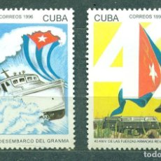 Sellos: ⚡ DISCOUNT CUBA 1996 40TH ANNIVERSARY OF THE LANDING OF THE GRANMA AND THE REVOLUTIONARY ARMED. Lote 253840465