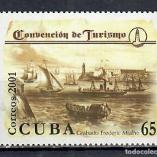 Sellos: ⚡ DISCOUNT CUBA 2001 CUBA 2001 INTERNATIONAL TOURISM CONVENTION, HAVANA MNH - SHIPS, TOURISM. Lote 253841505