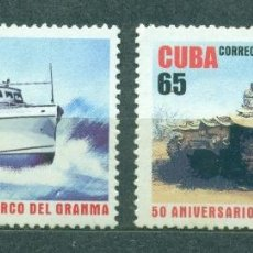 Sellos: ⚡ DISCOUNT CUBA 2006 THE 50TH ANNIVERSARY OF THE GRANMA LANDINGS MNH - SHIPS, ARMY, TANKS, M. Lote 253842260