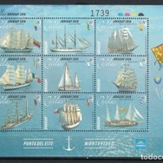 Sellos: ⚡ DISCOUNT URUGUAY 2018 SAILBOATS MNH - SAILBOATS. Lote 253855865