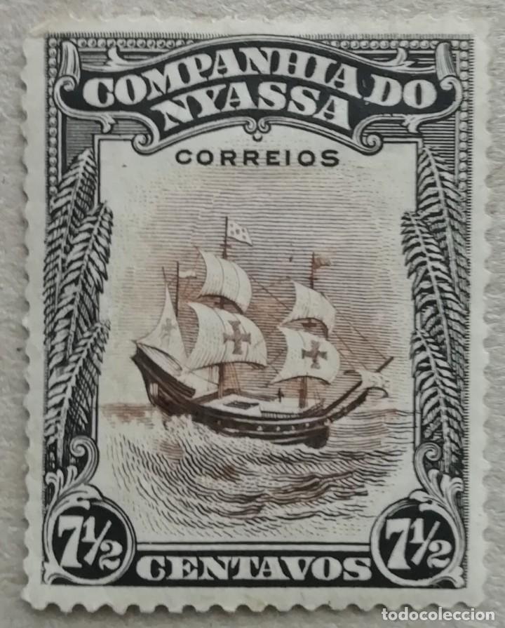 1921. NYASSA – MOZAMBIQUE. 104. NAVE 'SAO GABRIEL'. USADO. (Sellos - Temáticas - Barcos)