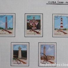 Sellos: LOTE 5 SELLOS DE FAROS DE CUBA, AÑOS 1980-83. Lote 254414685