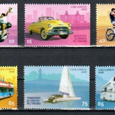 Sellos: ⚡ DISCOUNT CUBA 2018 TRANSPORT IN SERVICE TO TOURISM MNH - CARS, MOTORCYCLES, BICYCLES, TRAN. Lote 255623295
