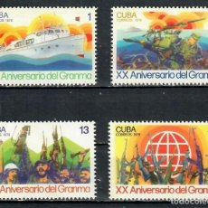 "Sellos: ⚡ DISCOUNT CUBA 1976 THE 20TH ANNIVERSARY OF THE ""GRANMA"" LANDINGS MNH - SHIPS, REVOLUTION,. Lote 255626190"