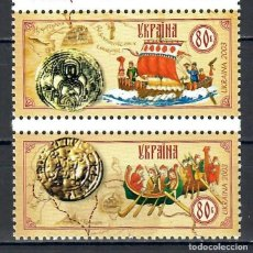 Sellos: ⚡ DISCOUNT UKRAINE 2003 TRADE ROUTES MNH - SHIPS. Lote 255628945