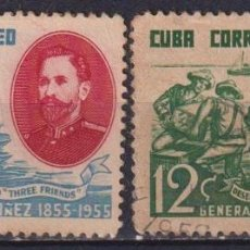 Sellos: ⚡ DISCOUNT CUBA 1955 THE 100TH ANNIVERSARY OF THE BIRTH OF GENERAL NUNEZ U - SHIPS, WEAPON,. Lote 255640995