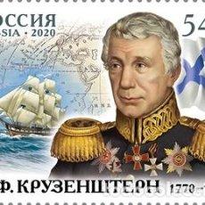 Sellos: ⚡ DISCOUNT RUSSIA 2020 250TH ANNIVERSARY OF THE BIRTH OF I.F. KRUZENSHTERN, NAVIGATOR MNH -. Lote 257577990