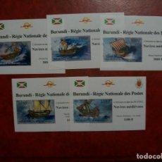 Sellos: /22.04/-LIQUIDACION-BURUNDI-2012-SERIE COMPLETA DE 5 BLOQUES EN NUEVO(**MNH)-. Lote 257697870