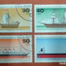 Sellos: ALEMANIA BERLIN 1977. YOUTH: GERMAN SHIPS. Lote 263200240