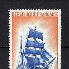 Sellos: 1972 FRANCIA YVERT 1717 BARCOS, GRANDES VELEROS, 'COTE D'EMERAUDE' MNH** NUEVO SIN FIJASELLOS. Lote 263223625