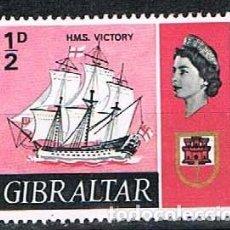 Sellos: GIBRALTAR 186, H.M.S.VICTORY, NUEVO CON SEÑAL DE CHARNELA. Lote 263717345
