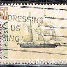 Sellos: AUSTRALIA 1291, EXPOSICIÓN MUNDIAL COLON 1992, EL BARCO YOUNG ENDEAVOUR, USADO. Lote 264225960