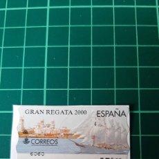 Sellos: ATM REGATA 2000 BARCOS MATASELLO 35 PESETAS ESPAÑA CORREOS. Lote 269576083