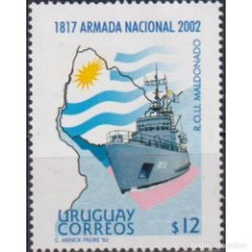 Sellos: ⚡ DISCOUNT URUGUAY 2002 THE 185TH ANNIVERSARY OF THE URUGUAY NAVY MNH - SHIPS. Lote 270389668