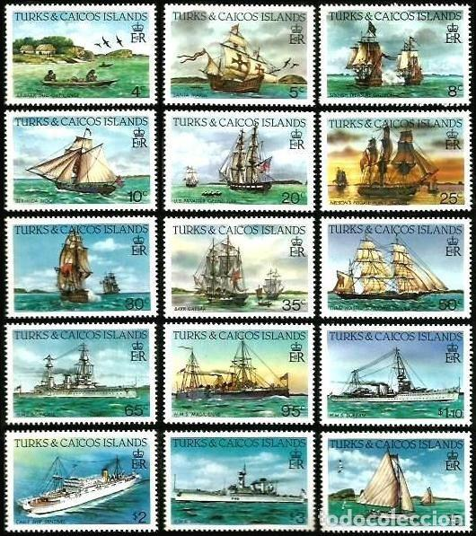 TURKS & CAICOS 1983-84 SERIES BARCOS ** (Sellos - Temáticas - Barcos)