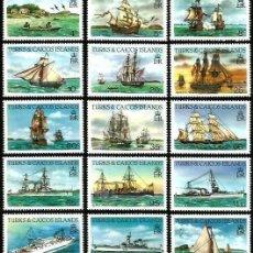 Sellos: TURKS & CAICOS 1983-84 SERIES BARCOS **. Lote 276213868
