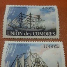 Sellos: SELLO COMORAS (I. COMORES) NUEVO/2008/VELEROS/BARCOS/FLOTA/NAVIO/BUQUE/CALAVE/LEER REGALO DESCRIPCI. Lote 276955548