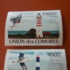 Sellos: SELLO COMORAS (I. COMORES) NUEVO/2008/FAROS/BARCOS/AVES/FAUNA/GAVIOTA/PAJARO/LEER REGALO DESCRIPCI. Lote 276958688
