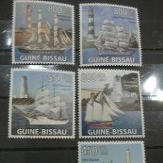 Sellos: SELLOS GUINEA-BISSAU NUEVOS/2009/FAROS/PUERTOS/BARCOS/VELEROS/ARTE/ARQUITECTURA/FLOTA/NAVIO/. Lote 277075493