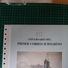 Sellos: 1988 ESPAÑA DOCUMENTO MATASELLO 50 ANIMALES CORREO SUBMARINO MAHON/BARCELONA TRAMONTANA S 74. Lote 277416518