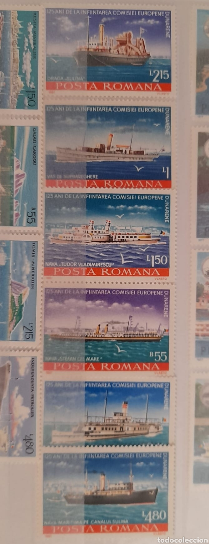 Sellos: Lote 3 series de barcos Rumanos/** sellos nuevos. - Foto 3 - 278487928