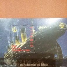 Sellos: HB R. NIGER NUEVA/1998/TITANIC/BARCO/TRANSATLANTICO/VIAJE/TRANSPORTE/PELICULA/VAPOR/INVENTOS/ACONTEC. Lote 279471623