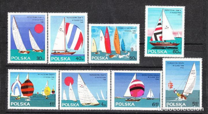 1965 POLONIA SERIE VELA ** (Sellos - Temáticas - Barcos)