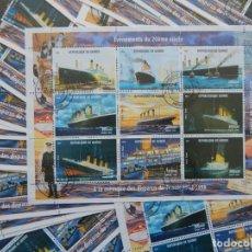 Sellos: 46 MINIPLIEGOS REPÚBLICA DE GUINEA 1998 - TITANIC / ENÉNEMENTS DU 20ÈME SIÈCLE - À LA MÉMOIRE DES.... Lote 287254528