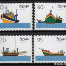 Sellos: MADEIRA 146/49** - AÑO 1990 - BARCOS TIPICOS. Lote 288081648