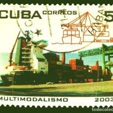 Sellos: MICHEL CU 4516 - CUBA - BARCOS - TRANSPORTATION AND SHIPPING - 2003. Lote 288128753